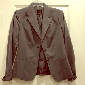 The Limited gray pin stripe suit jacket blazer 6